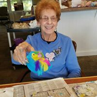 Arts and crafts at memory care facility in Waterford, WI