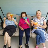 Happy memory care residents in Waterford, WI
